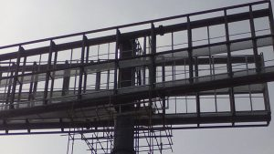 Billboard Construction at Victoria Island Lagos