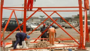 Tower Contrsction for Mobil at Victoria Island Lagos